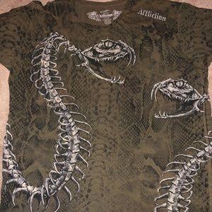 Affliction Skeletal Snake with copper rivets 3xl